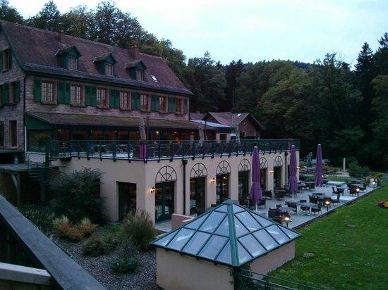 Les Violettes Hotel & Spa Alsace, BW PREMIER Collection : vue de l'hôtel depuis la chambre