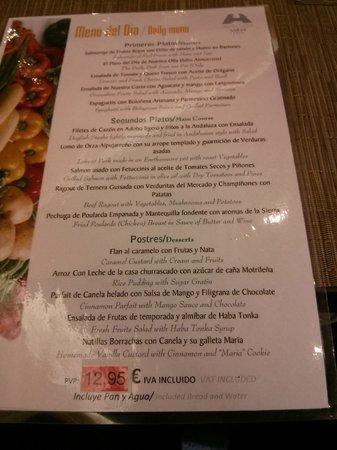 Saray Hotel: Lunch Special menu