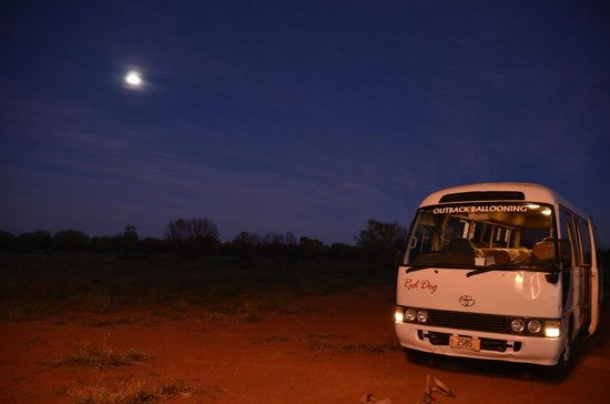 Outback Ballooning: by the light of the silvery moon!