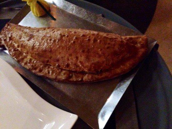 Luca Restaurant: Mediterranean Striped Bass in its bread casing.