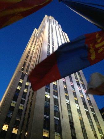 Rockefeller Center: ロックの下からのアングル!いいでしょう!