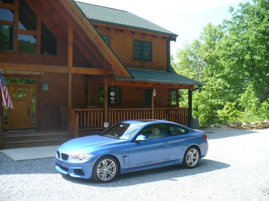 Chilhowee Mountain Retreat: Front with my new baby