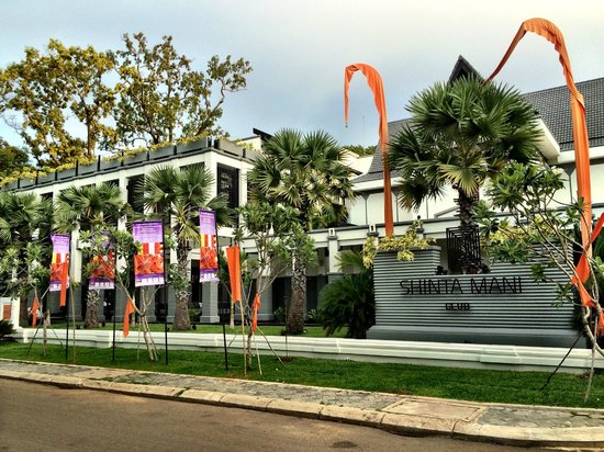 Shinta Mani Club: Front of the hotel