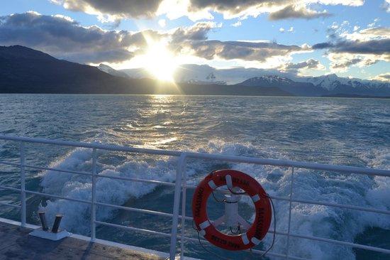 Estancia Cristina: retour en bateau
