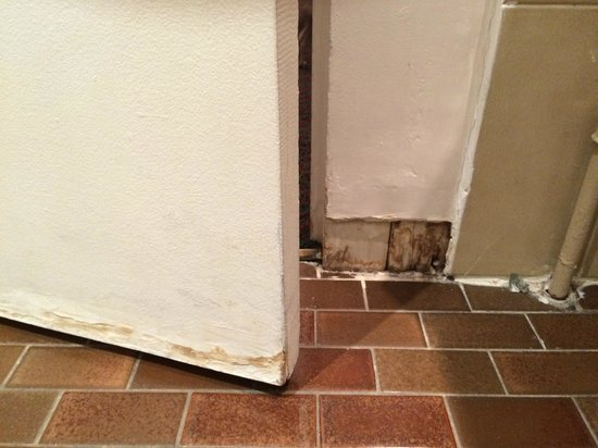 B4 Lyon: Porte et plinthe de la salle de bain