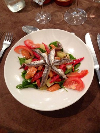 Le Pôvre Yves : Salade de légumes de saison et anchois de Collioure