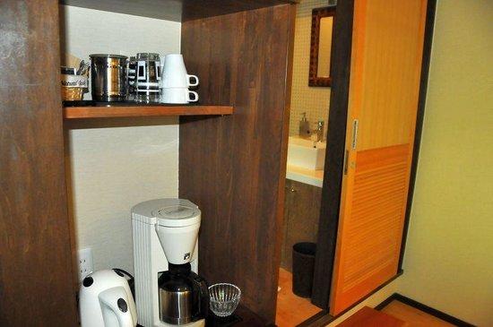 Auberge Meson: コーヒーメーカーなどが備え付け