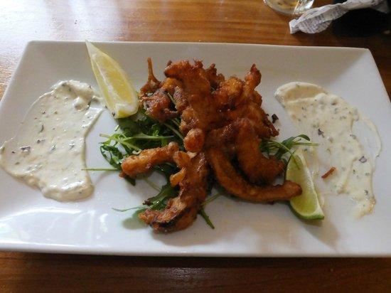 The Three Tuns Inn: deep fried Mudeford cuttlefish, beer batter, seaweed mayonnaise