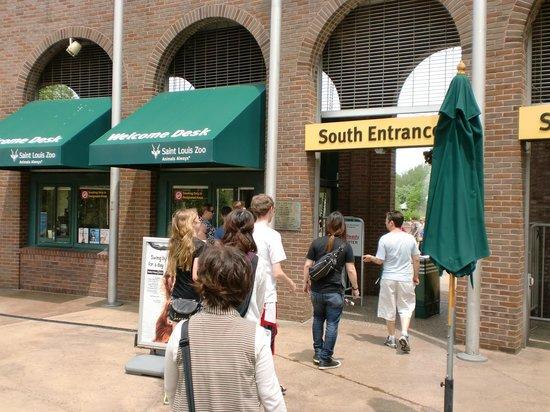 St. Louis Zoo : 動物園入口