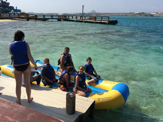 Banana Boat ride at De Palm Island