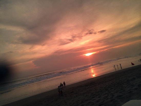 The Legian Bali : At the beach in the evening sunset
