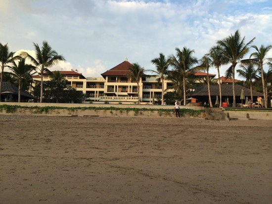 The Legian Bali : View of hotel from beach