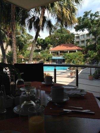Sheraton Presidente San Salvador : View while eating in restaurant.