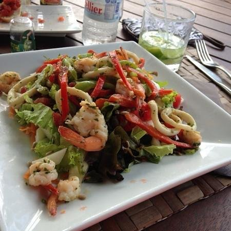 Hotel Alisei: shrimp salad~yum