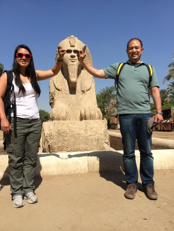 Emo Tours Egypt: One of the funny photo ops directed by Osama