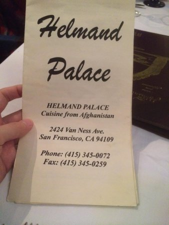 Helmand Palace: Wifi Pass = Phone Number