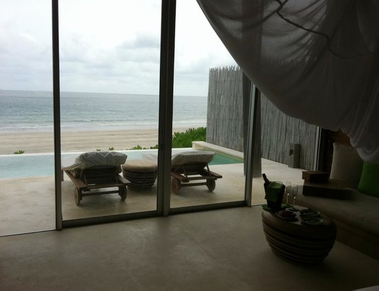 Six Senses Con Dao: View from bed in comfortable, spacious room.