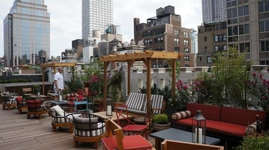 Refinery Hotel: roof top if you are lucky
