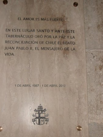 Catedral Metropolitana de Santiago: Visita do Papa João Paulo II