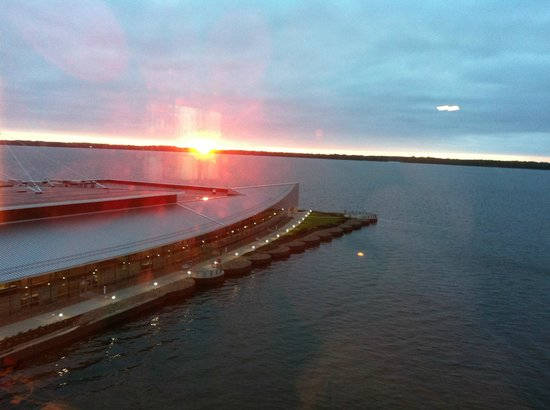 Sheraton Erie Bayfront Hotel: sunset from room 702