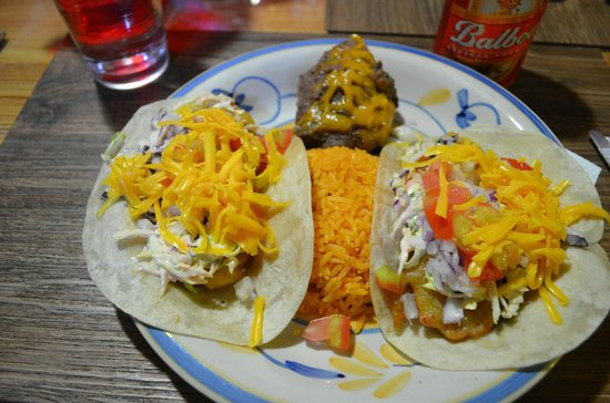Red Frog Bungalows: Fish tacos!!!