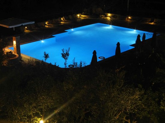 Hotel Europa: Pool at night