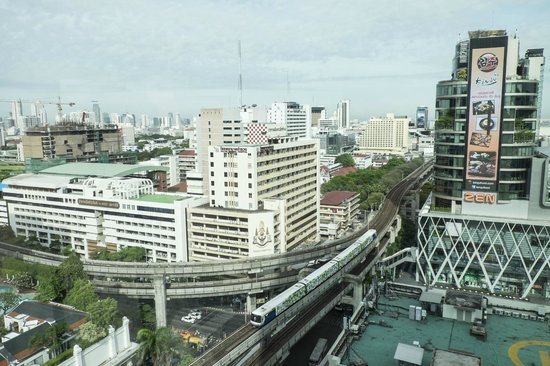 InterContinental Bangkok: View from room, overlooking Central World