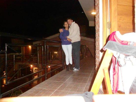 Altos del Champaquí Apart y Spa: en el balcon