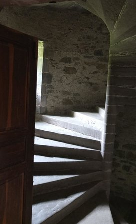L'Abbaye Chateau De Camon: Stairs to room