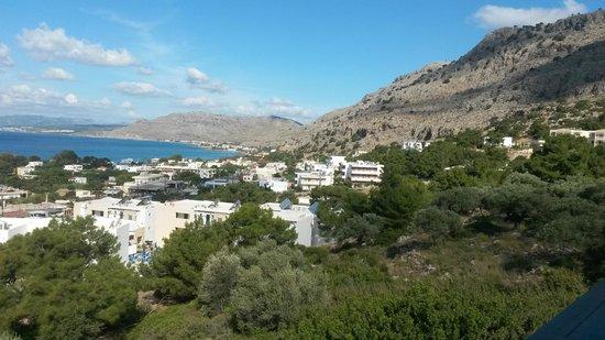 Pefkos Beach Hotel : View