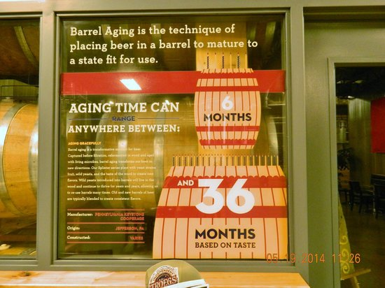 Troegs Brewing Company: Explanation of aging times