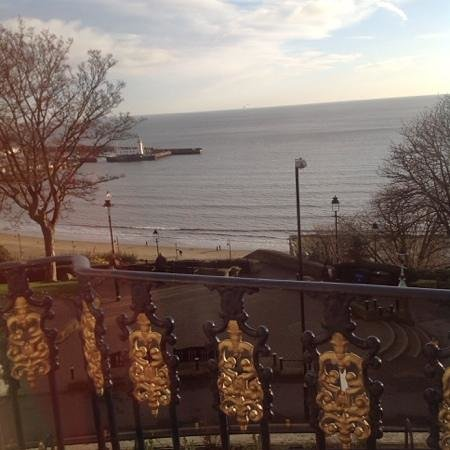 Royal Hotel Scarborough: view from room at the front of the hotel