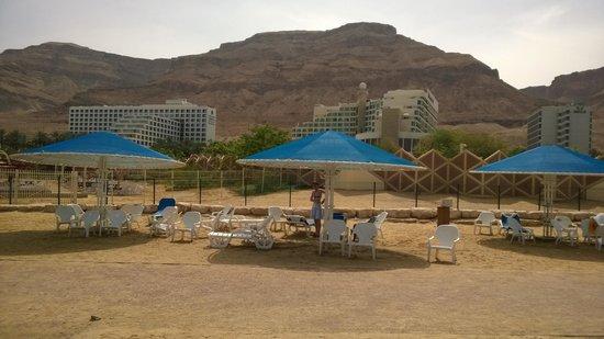 Hotel Spa Club Dead Sea : Plage privée