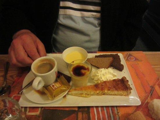 Cantina Doria: Dessert : Café Gourmand !!  copieux et délicieux