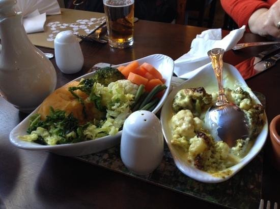 Royal George: The accompanying vegetables