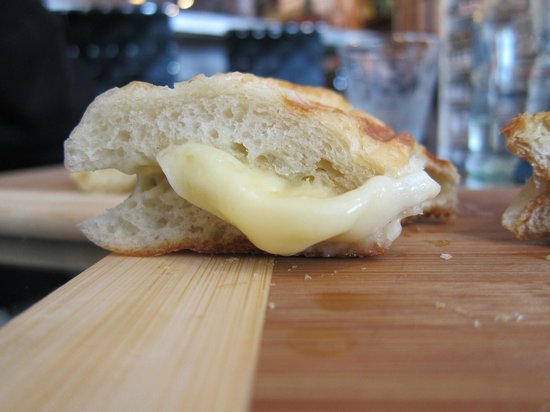 The Cheese Gallery: Melted brie on a toasted baguette