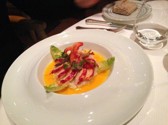 La Ferme Saint Siméon Restaurant - Relais et Châteaux : homard risotto truffe