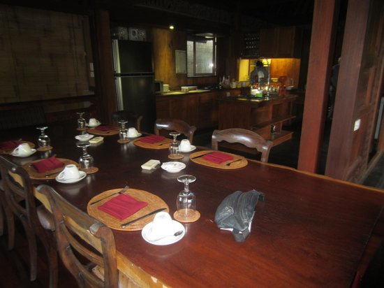 Villa Arya Ubud : zicht op de ontbijtsruimte
