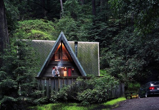 Big Sur Campground & Cabins: Our A Frame Cabin