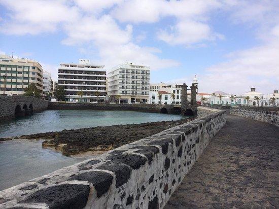 Hotel Miramar: View of Hotel from Castillo de San Gabriel