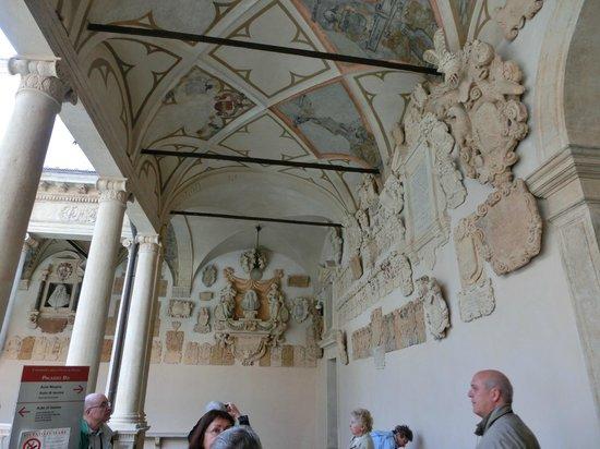 University of Padova: l'un des portiques de la cour
