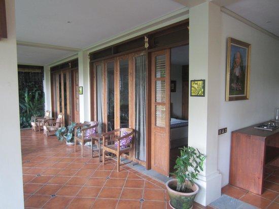 Omah Apik: zicht op de kamers