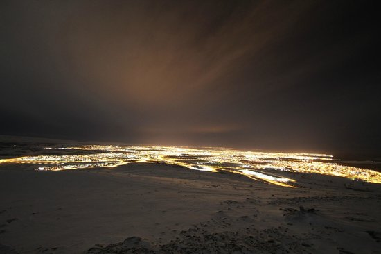 Superjeep.is: Mountain over looking Reyjkavik