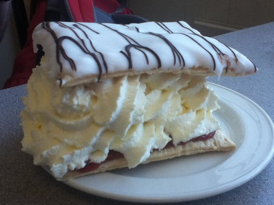 Great Orme: Cake at Summit Complex Cafe