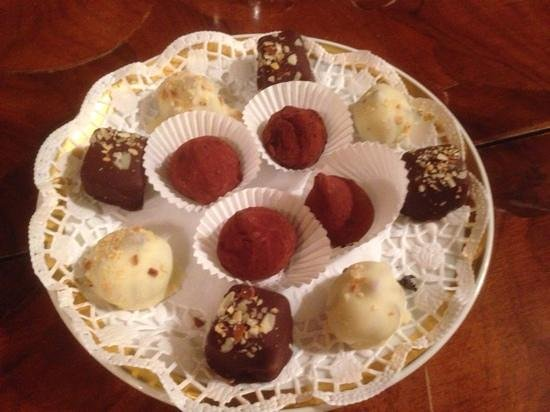 Heising: chocolates at the end of dinner