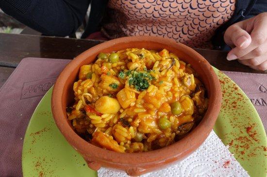 Pulperia de los Faroles: Espécie de risoto de frutos do mar