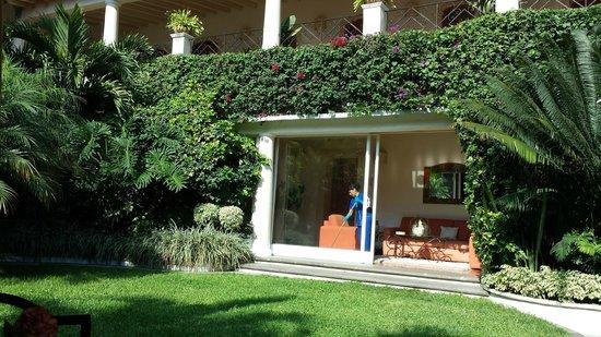 Hotel Boutique La Casa Azul: Patio