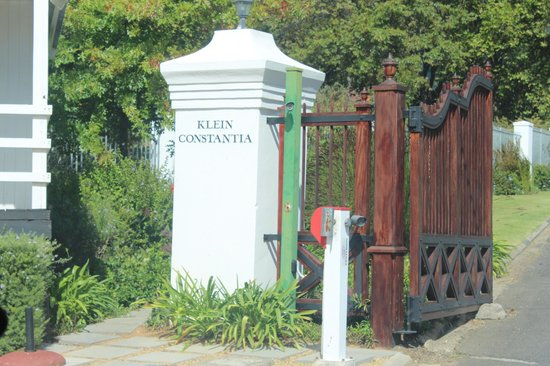 Klein Constantia: Portão de entrada