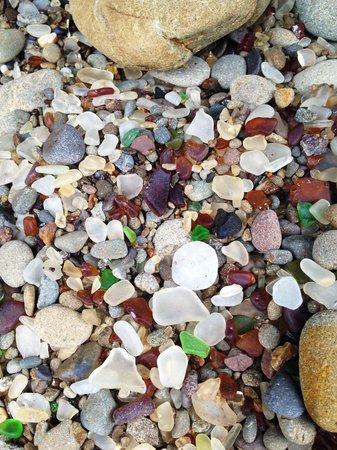 Glass Beach : Glass on the beach