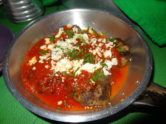 Katogi: One of our favourits - greek meatballs with tomato sauce and feta cheese was simply amazing